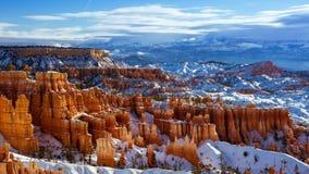 4K Timelapse Bryce Canyon National Park en hiver, Utah, Etats-Unis banque de vidéos