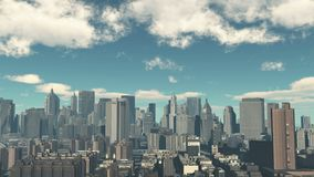 4k,timelapse cloud fly over urban building and skyscrapers,NewYork City Scene. 4k,timelapse cloud fly over urban business building and skyscrapers,NewYork City stock video