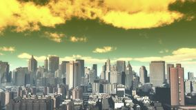 4k,timelapse cloud fly over urban building and skyscrapers,NewYork City Scene. 4k,timelapse cloud fly over urban business building and skyscrapers,NewYork City stock video