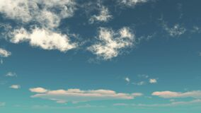 4k,timelapse of clouds flying through blue sky.