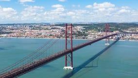 4K timelapse of 25 de Abril (April) Bridge in Lisbon - Portugal - UHD. 4K timelapse of 25 de Abril (April) Bridge in Lisbon  Portugal - UHD stock video