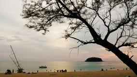 4k Timelapse de Kata Beach tropicale, Thaïlande banque de vidéos
