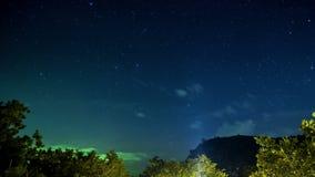 4K timelapse De sterrige hemel boven de palmen in de keerkringen, Samui-eiland, Thailand stock footage