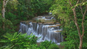 4K Timelapse of deep forest waterfall in Kanchanaburi, Thailand stock footage