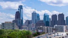 4K Timelapse del horizonte Pennsylvania los E.E.U.U. de Philadelphia metrajes