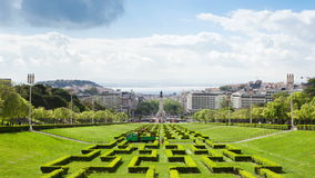 4K timelapse of Edward vii park in Lisbon, Portugal - UHD stock video
