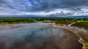 4K TimeLapse. Geysir Strokkur - the second largest and most active geyser in Iceland Haukadalur Valley. Iceland, 15 June stock video footage