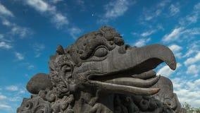 4K Timelapse. The head of the bird Garuda. 15 July 2015, Bali, Indonesia stock footage