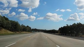 4K Timelapse hyperlapse driving on a four lanes highway in Australia on a sunny day stock video