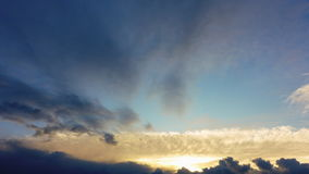 4k timelapse of majestic evening sky. High quality, not birds.  stock footage
