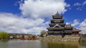 4K Timelapse of Matsumoto castle, Nagano, Japan stock footage