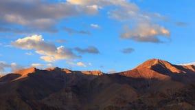 4K Timelapse of mountain at sunset, Leh, Ladakh, Jammu & Kashmir, India stock footage