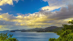 4K TimeLapse. Panoramic at sea and tropical Phuket island, Thailand. January, 2016. 4K TimeLapse - December and January 2016, Phuket Island, Bangkok, Thailand stock video