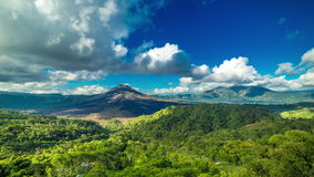 4K Timelapse. Panoramic views of volcano Gunung Batur. 15 July 2015, Bali, Indonesia stock video footage