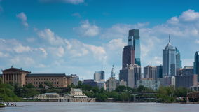 4K Timelapse of the philadelphia skyline  Pennsylvania USA stock video footage