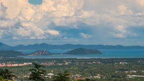 Timelapse Town view of Phuket Island, Thailand. 4K Timelapse. Phuket island in Thailand - 20 November 2017 stock video