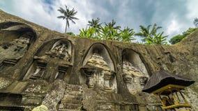4K timelapse Pura Gunung Kawi 15 Juli 2015, Bali, Indonesië stock video