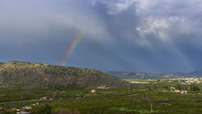 4K timelapse of a rainbow after rain. In Greece stock footage