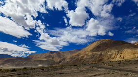 4K Timelapse rolling clouds over mountain , Leh, Ladakh, India stock footage