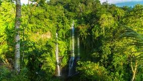 4K Timelapse. Sekumpul waterfall high about 80 meters or 262 feet tall. 15 July 2015, Bali, Indonesia stock video footage