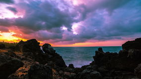 4K Timelapse. Storm clouds in the Indian Ocean. 15 July 2015, Bali, Indonesia. 4K Timelapse. East Java, Bali, Indonesia - 25 July 2015 stock video footage