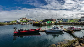 4K TimeLapse. Stykkishólmur Harbour is located in the western part of Iceland, Vesturland region, in the north of the stock footage