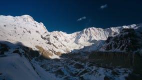 4k Timelapse of a sunrise at Annapurna base camp (4130m). Himalaya mountains, Nepal stock video