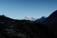 4K. Timelapse sunrise in the mountains Cho Oyu, Himalayas, Nepal. stock video footage