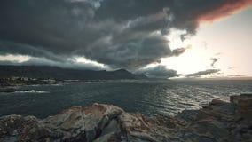 4K timelapse sunrise over beautiful bay stock video footage