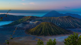 4K Timelapse. Sunrise over the Bromo volcano. East Java, Indonesia - 25 July 2015 stock video