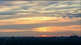 4K Timelapse sunrise. stock footage