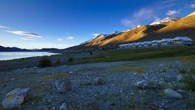 4K Timelapse of sunrise at Pangong lake, Ladakh, Jammu & Kashmi, India stock video footage