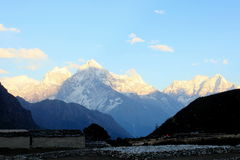 4K. Timelapse sunset in the mountains Himalayas stock video