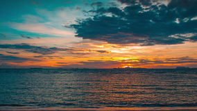4K TimeLapse. Sunset in Taling Ngam beach, Samui island, Thailand stock video