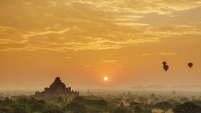 4K Timelapse of the temples of Bagan at sunrise, Mandalay, Myanmar stock video