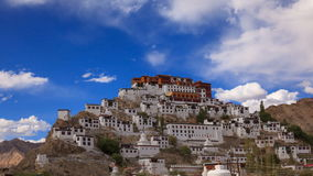 4K Timelapse Thiksey修道院、Leh拉达克,查谟&克什米尔,印度 影视素材