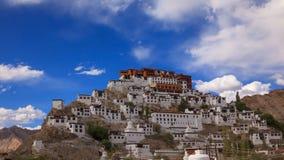 4K Timelapse Thiksey Monastery, Leh Ladakh, Jammu & Kashmir, India stock footage
