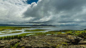 4K TimeLapse. Thingvellir - Valley in the southwestern part of Iceland, near the peninsula of Reykjanes and the stock video