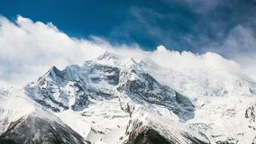 4k Timelapse van Annapurna II berg, 7.937 m stock videobeelden