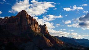 4K Timelapse van Bewakergezichtspunt, Zion National Park, Utah, de V.S. stock videobeelden