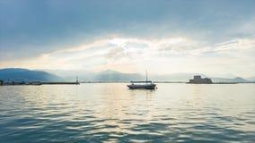 4K Timelapse van mooie kustscène in Griekenland stock videobeelden