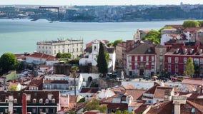 4K timelapse της στέγης της Λισσαβώνας από το Σάο Vicente de για μια εκκλησία στην Πορτογαλία - UHD φιλμ μικρού μήκους