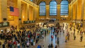 4k timelapse video of Grand Central Station in New York stock footage