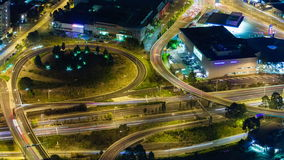 4k timelapse video of traffic on highway at night stock video footage