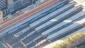 4k timelapse video of a train station in the