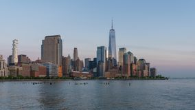4k timelapse video van de horizon van Manhattan stock videobeelden