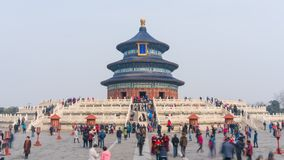 4k timelapse video van tempel van Hemel in Peking stock videobeelden