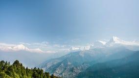 4k Timelapse view of Annapurna and Dhaulagiri mountains range stock video