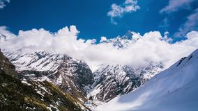 4k Timelapse view of Machapuchare (Fish Tail) mountain Stock Photo