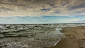 4K timelapse. Waves coming to the beach. stock video footage